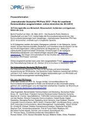 Internationaler Deutscher PR-Preis 2012 - Der Internationale ...