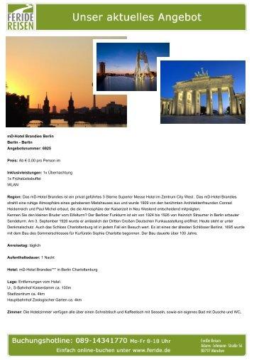 mD-Hotel Brandies Berlin - Eventreisen - Trierischer Volksfreund