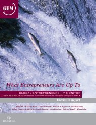 GEM 2008 Executive Report - Babson College