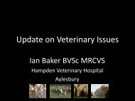 Update on Veterinary Issues - The Royal Association of British Dairy ...