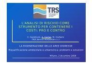 l'analisi di rischio come strumento per contenere i costi: pro e ... - Audis
