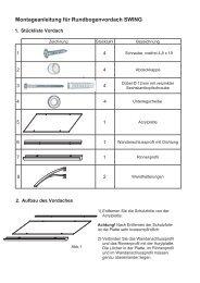 Montageanleitung für Rundbogenvordach SWING - Heim und Hobby