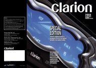 CLARION Product Catalogues 2004 One-Time Download
