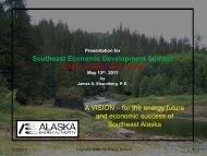 for the energy future and economic success of Southeast Alaska