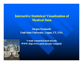 Interactive Statistical Visualization of Medical Data - Utah State ...
