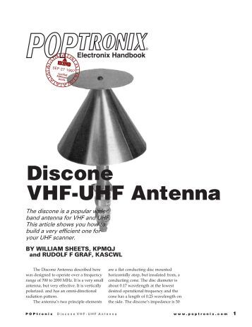 Discone VHF-UHF antenna - Educypedia