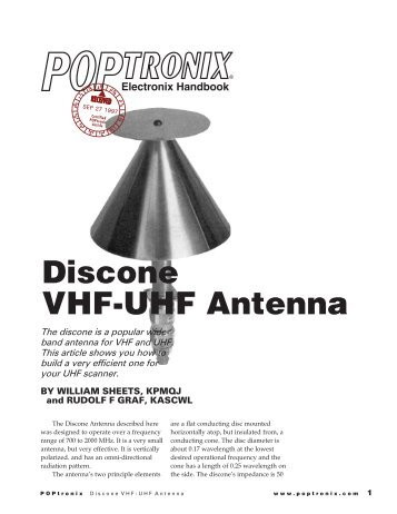Discone VHF-UHF antenna - Educypedia