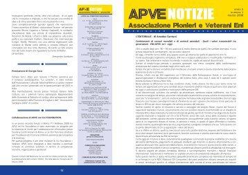 ApveNotizie Marzo 2008 - associazione pionieri e veterani eni