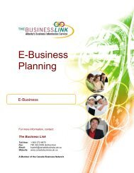 E-Business Planning - The Business Link