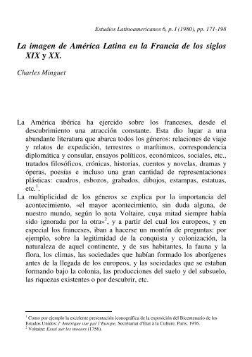 La imagen de América Latina en la Francia de los siglos XIX y XX.