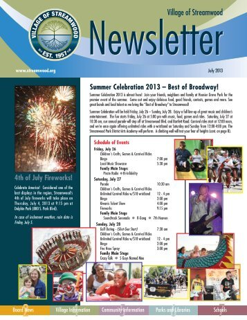 July - Village of Streamwood