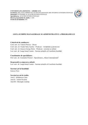 ANEXA III - Universitatea Româno-Americană