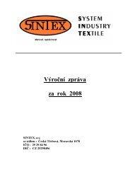 Sintex – výroční zpráva 2008