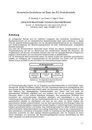 Numerische Simulationen auf Basis - Lehrstuhl für Computation in ...