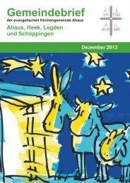 Gemeindebrief Dezember 2013 - Kirchengemeinde Ahaus