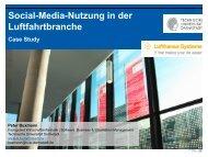 Case Study Social-Media-Nutzung in der Luftfahrtbranche