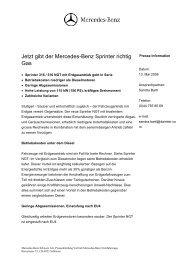 Jetzt gibt der Mercedes-Benz Sprinter richtig Gas - Erdgasfahren