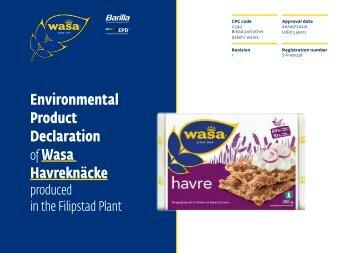 Environmental Product Declaration of Wasa Havreknäcke