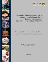 Stratégies d'apprentissage par la lecture - Gouvernement du Québec