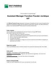 Assistant Manager Fonction Fiscale/ Juridique H/F - ACCUEIL