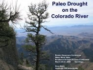 Paleo Drought on the Colorado River - Water Education Foundation