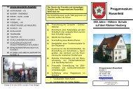 Info-Broschüre zum Ausdrucken - Progymnasium Rosenfeld