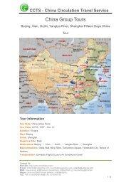 China Group Tours - China Budget Tours
