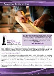 Accounting for Carpenters - Linda McGowan Accountants