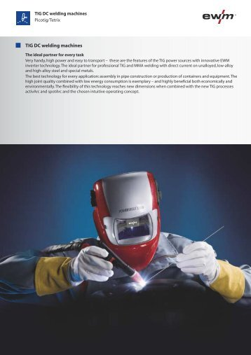 TIG DC welding machines - Ewm-sales.co.uk