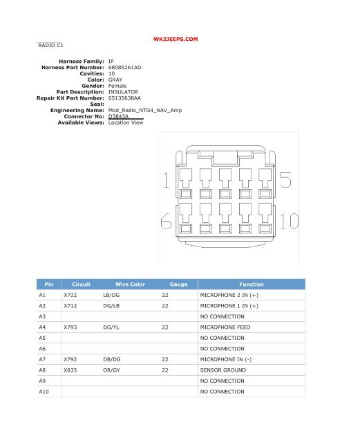 audio/video systems  wiring diagrams pdf  wk2jeeps