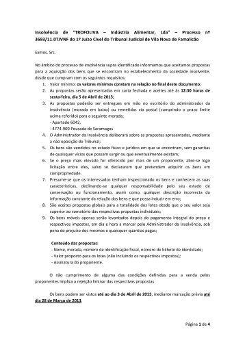 Termos e Condições da venda - Nuno Oliveira da Silva