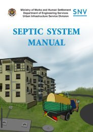 SEPTIC SYSTEM MANUAL - Ministry of Works and Human Settlement