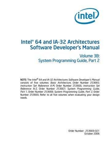 Intel® 64 and IA-32 Architectures Software Developer's Manual