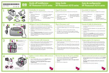 Guida all'installazione HP Photosmart A310 series Setup Guide HP ...