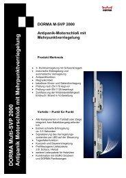 DORMA M-SVP 2000 - Antipanik Motorschloss