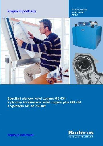Projekční podklady Speciální plynový kotel Logano GE ... - Buderus