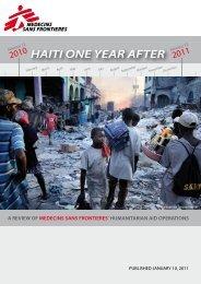 HAITI ONE YEAR AFTER - Lékaři bez hranic