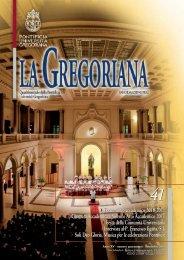 Università Gregoriana - Rivista La Gregoriana - n.41 - Settembre 2011