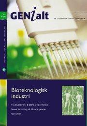 Last ned GENialt 2/2001 (pdf). - Bioteknologinemnda