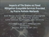 Impacts of Tile Drains on Flood Mitigation Ecosystem Services ...