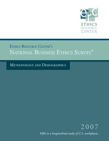 Vew Survey Methodology - Ethics Resource Center