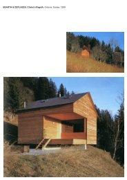 BEARTH & DEPLAZES, Chalet à Rageth, Grisons, Suisse, 1999