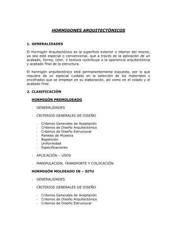 HORMIGONES ARQUITECTÓNICOS - ICPA