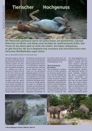 Tierischer Hochgenuss - Birseck Magazin