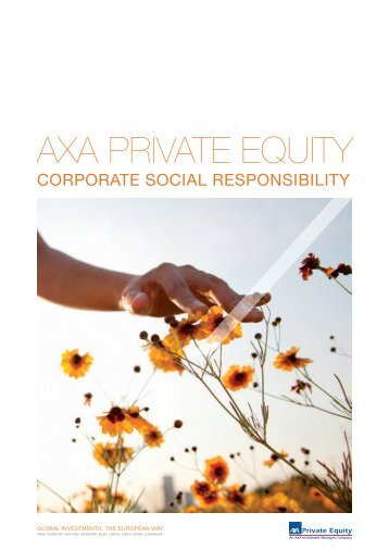 Download the CSR brochure - Axa Private Equity