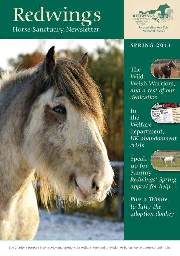 Spring Newsletter 2011:Spring Newsletter 2010 - Redwings
