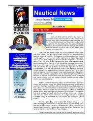 Nautical News - Marina Recreation Association