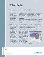 NX Body Design - Siemens PLM Software