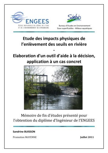 Rapport-TFE-ENGEES-BUISSON SANDRINE