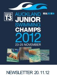 NEWSLETTER 20. 11.12 - Auckland Swimming